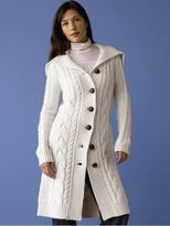 Merino wool cable-knit coat - Flurry