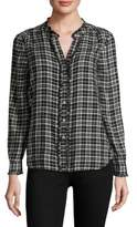 Joie Kaija Plaid Cotton Top