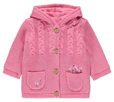 George Embroidered Fleece Lined Hooded Cardigan