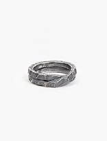 Denis Music Oxidised Silver Moebius Cross Ring