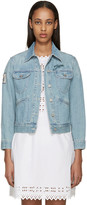 Etoile Isabel Marant Blue Denim Eagle Rainmakers Purd Jacket