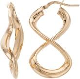 Sterling Silver Hollow Infinity Drop Earrings