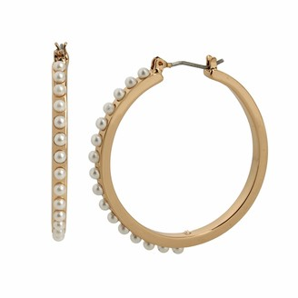 Betsey Johnson Pearl Hoop Earrings
