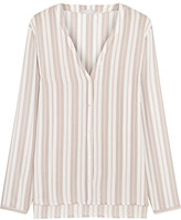 Hanro Lara Striped Voile Pajama Shirt - Off-white