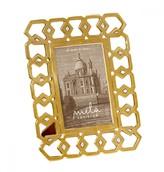 Mela Artisans Monroe in Brass/White Mother of Pearl Frame, 4x6
