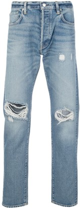 Simon Miller ripped mid-rise tapered jeans