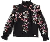 Marciano Big Girls 7-16 Ruffle-Neck Embroidered Top