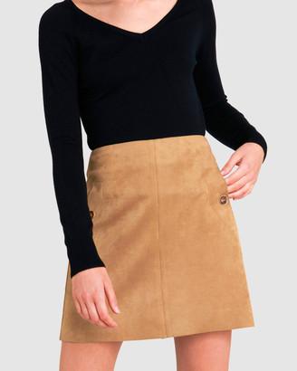 Forcast Clarissa Faux Suede Skirt
