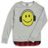 Flowers by Zoe Girls 7-16 Emoji Pullover Sweater