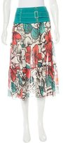 M Missoni Belted Midi Skirt