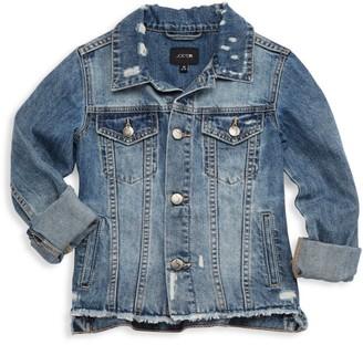 Joe's Jeans Girl's Deconstructed Denim Jacket