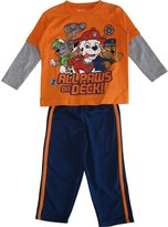Nickelodeon Little Boys Navy Paw Patrol Long Sleeve 2 Pc Pant Set
