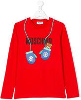 Moschino Kids mitten teddy logo top