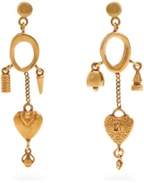 Chloé Collected Hearts drop earrings