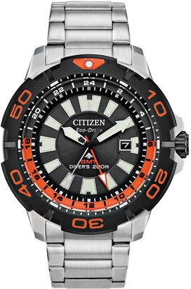 Citizen Eco-Drive Men's Promaster GMT Stainless Steel Dive Watch - BJ7129-56E