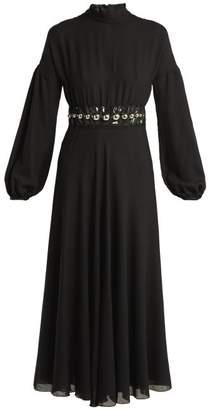 Giambattista Valli Bead-embellished Wool-blend Maxi Dress - Womens - Black