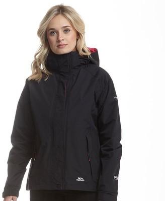 Trespass Womens Florissani Hooded Waterproof Shell Jacket Black