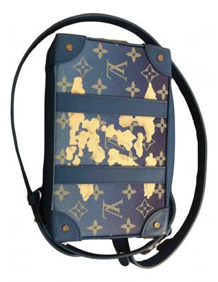 Louis Vuitton Trunk Blue Cloth Bags
