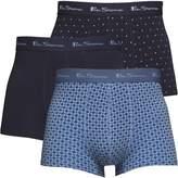 Ben Sherman Boris Three Pack Boxers Denim/Indigo/Grey