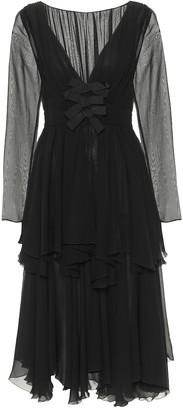 Giambattista Valli Silk georgette midi dress