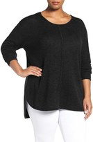 Sejour Plus Size Women's Wool & Cashmere Scoop Neck Sweater