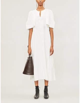 Jil Sander Split-sleeve linen midi dress