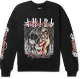 Amiri + Motley Crue Oversized Printed Loopback Cotton-Jersey Sweatshirt