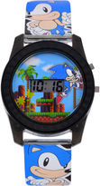 Character Sonic the Hedgehog Boys Blue Strap Watch-Snc4008jc