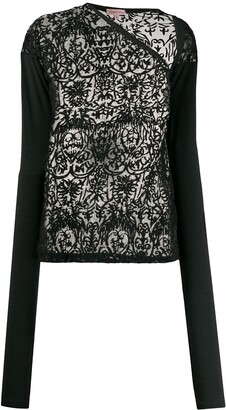 Romeo Gigli Pre Owned 1990s Embroidered Sheer Blouse