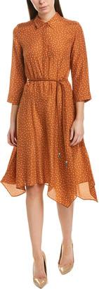 Lafayette 148 New York Rizzo Silk Shirtdress