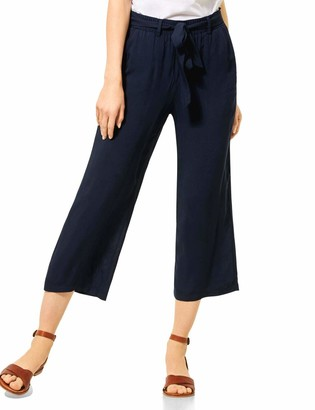 Cecil Women's 373203 Wide Leg Solid Trouser
