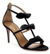 Aquazzura St. Tropez Tied Suede Sandals