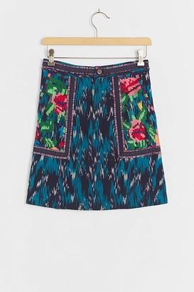 Pilcro And The Letterpress Anahi Embroidered Mini Skirt