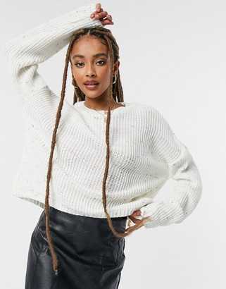 In The Style x Jac Jossa knitted jumper in cream