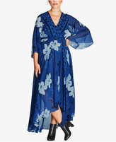 City Chic Trendy Plus Size Magnolia Floral-Print Maxi Dress