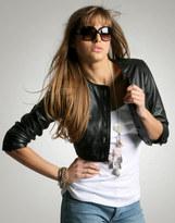 ASOS Cropped Leather Jacket