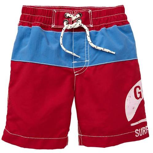 Gap Colorblock logo swim trunks