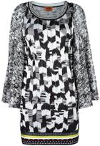 Missoni round neck knitted dress