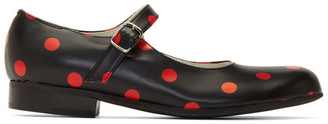 Comme des Garcons Black and Red Polka Dot Mary Jane Flats