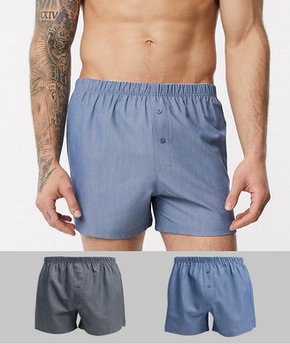 Asos DESIGN 2 pack woven boxers save
