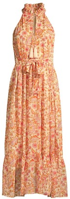 Roller Rabbit Maribelle Jannette Georgette Midi Dress