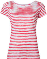 Majestic Filatures printed stripe T-shirt - women - Linen/Flax - 3