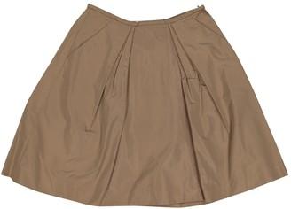 Miu Miu Brown Polyester Skirts