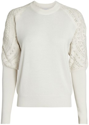 Saylor Johana Crochet-Trimmed Sweater