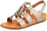 FitFlop Gladdie Lace-Up Leather Sandal, Bronze