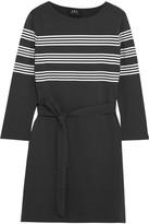 A.P.C. Atelier de Production et de Création - Esther Striped Cotton-jersey Mini Dress - Black