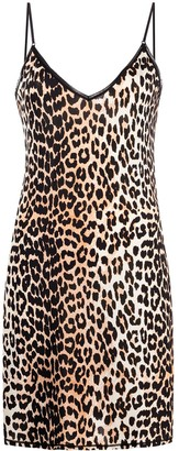 Ganni Leopard Print Shift Dress