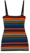 Dolce & Gabbana Striped Ribbed Cotton-blend Camisole