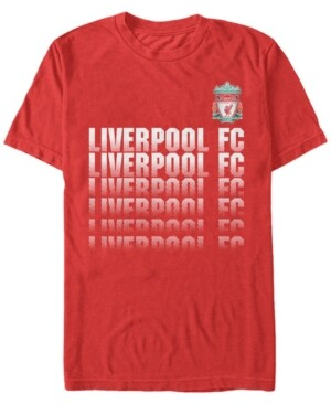 Liverpool Football Club Men's Fading Logo Short Sleeve T-Shirt