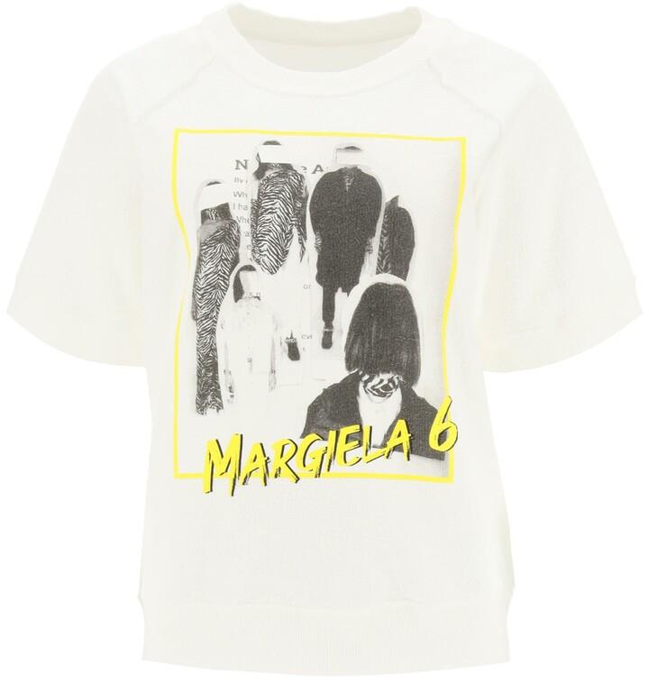 Thumbnail for your product : MM6 MAISON MARGIELA MARGIELA 6 REVERSE SWEATSHIRT M White, Black, Yellow Cotton
